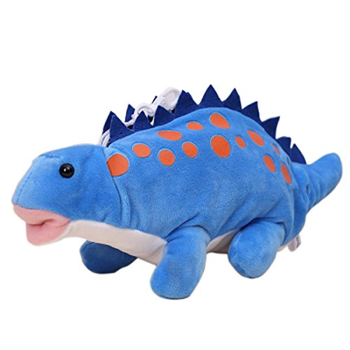 Rebecca Lovely Soft Cartoon Animal Pencil Bag Plush Toy Storage Pen Holder (Dinosaur Blue)