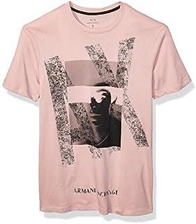 Armani Exchange Men's T-Shirt T- Pink, XL