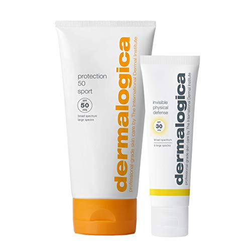 Dermalogica Face and Body Sunscreen Duo - Includes: SPF30 Non-Greasy Face Sunscreen with UVA/UVB/Blue Light Protection and SPF50 Water-Resistant, Broad Spectrum Sunscreen