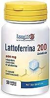 Lattoferrina LongLife | 100% naturale, da latte vaccino | alto dosaggio (200mg/cps) | Capsule gastroresistenti |...