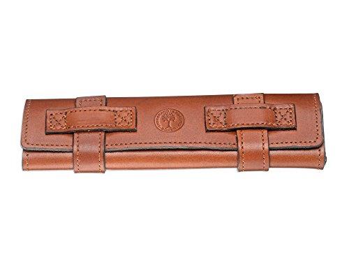 Böker Manufaktur Solingen Leder-Rolletui aus echtem Leder in der Farbe Braun - 18 cm