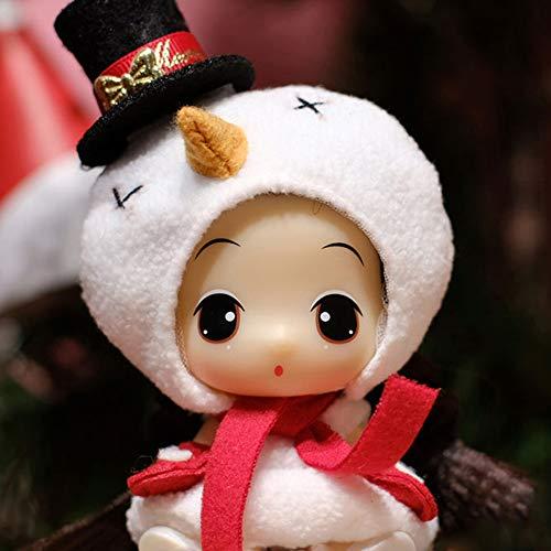 Ddung - Muñecas de Navidad de 3,5 pulgadas, mejor regalo para niñas, vestido de muñeca con caja de regalo, muñeca princesa con accesorios completos, nieve