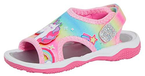 Peppa Pig Sandales de sport pour fille avec licorne magique arc-en-ciel Chaussures plates en EVA - Rose - rose, 22 EU