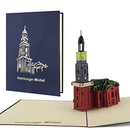 Hamburger Michel als Pop-Up-Karte, Ausflug, Wochenende, Reisegutschein, Souvenir perfekt zum verschenken als Gutschein für eine Reise nach Hamburg A05