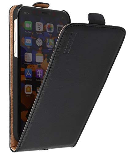 mumbi Funda de Piel con Tapa para iPhone 11, Color Negro
