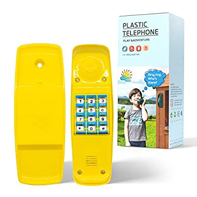 HAPPYPIE Toy Phone for Kids Swing Set Phone Pretend Phones and Learning Education Phones Plastic Telephone Creative Children Play Phone for Toddlers Baby Cell Phone Playhouse Phone (Yellow) from HAPPYPIE