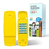HAPPYPIE Toy Phone for Kids Swing Set Phone Pretend Phones and Learning Education Phones Plastic Telephone Creative Children Play Phone for Toddlers Baby Cell Phone Playhouse Phone (Yellow)