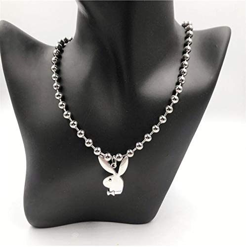 2020 New Personality Women Fashion Cute Long Ear Bunny Pendant Necklaces Charm Playboy Necklace Party Jewelry Collier Femme