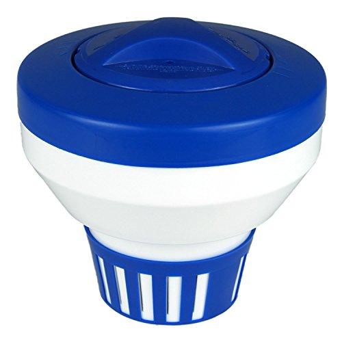 Poolmaster 32155 Floating Swimming Pool Chlorine Dispenser, Large, Blue