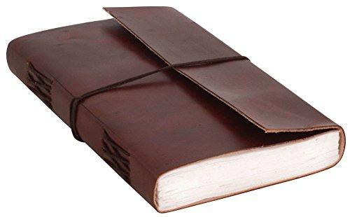 Gusti Notizbuch Leder - Sophia Tagebuch Heft unliniert 200 Seiten Poesiealbum Zeichenbuch Planer DIN A5 Innenblock austauschbar handgeschöpftes Papier