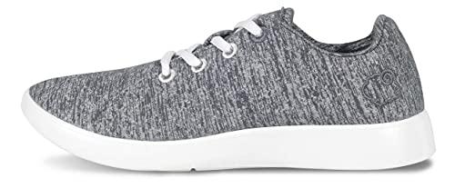LeMouton Classic Men's Wool Shoe | Comfortable Lightweight | Walking Lace Up Sneaker [ Light Grey/US Men's 12]