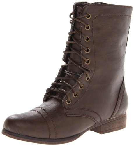 Hot Sale Madden Girl Women's Gamer Lace-Up Boot, Brown Paris,7.5 M US