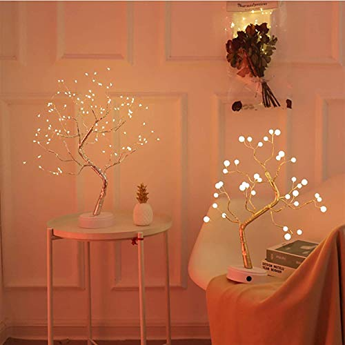 LED Tree Lamp, Bonsai Style Tree Lamp, Fairy Light Spirit Tree Sparkly Tree Light DIY Artificial Light Decoration, 108 LED Touch Switch Table Lamp for Home Bedroom Desk Decoration Night Light