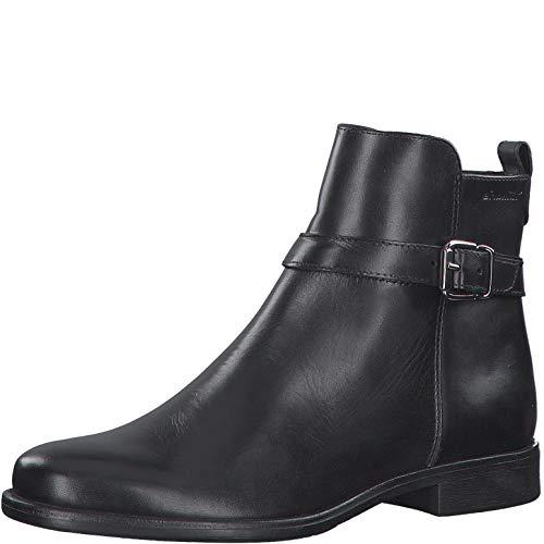 Tamaris Damen Stiefeletten, Frauen Ankle Boots, halbstiefel Bootie knöchelhoch reißverschluss weiblich Ladies Women's Women,Black,39 EU / 5.5 UK