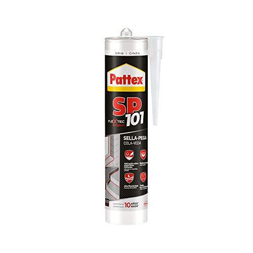 Pattex SP101 Original, adhesivo sellador para interiores y exteriores, polímero sellador gris...