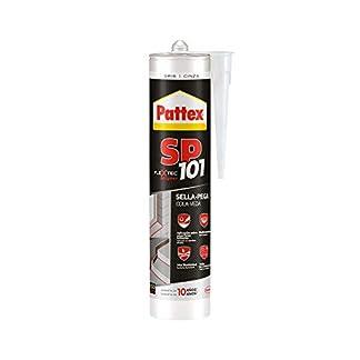 Pattex sp101 original, adhesivo sellador para interiores y exteriores, polímero sellador gris multimaterial, sellador de juntas en cartucho, 1 x 280 ml