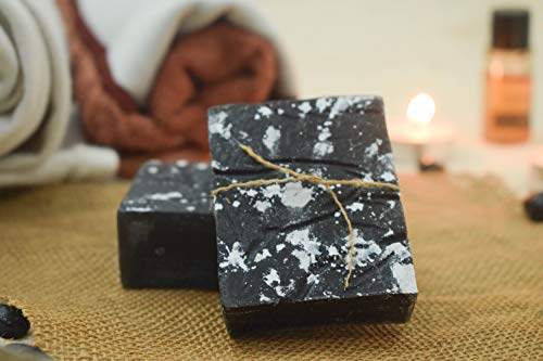 SVATV Handmade Sugar Natural Soap II Charcoal Musk & Rosemary ll For All Skin types 100g Bar ll Kosher Certified
