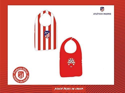 Pack de 2 baberos del Atlético de Madrid - Rojo/Blanco