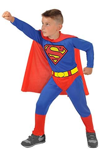 Ciao-Superman Costume Bambino Originale DC Comics (Taglia 8-10 Anni), Colore Blu/Rosso, 11672.8-10