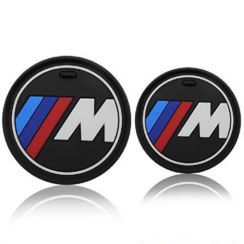 2 PCS Car Anti Slip Cup Holder Mats Coaster Compatible for BMW 1 2 3 4 5 6 7 8 X Series Cars F10 F20 F30 Car Logo (2.6'/ 66mm (1 2 3 4 Series))