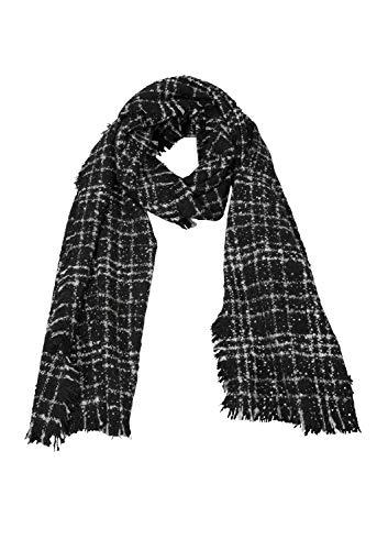 s.Oliver Damen 39.811.91.3751 Schal, Grau (Grey/Black Check 99n1), One Size (Herstellergröße: 1)