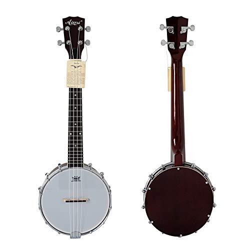 QLJ08 24 Banjolele tenor de 26 pulgadas con cubierta de resonador con...