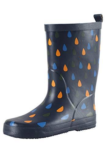 Reima Ravata Kids Waterproof Rain Boots for Girls Boys Outdoor Rubber Boot 5694006982024, Navy, 8 Child