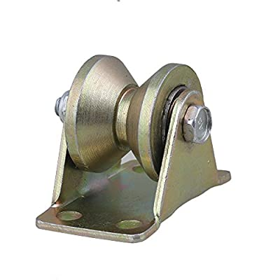 """CNBTR Steel Groove Rigid Caster Wheel 1.2"""" Dia 45# for Industrial Machines Carts 200KG"""