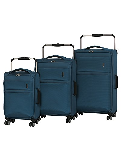 it luggage World's Lightest Debonair 8 Wheel Spinner, Two Tone Blue, Checked-Medium 28-Inch