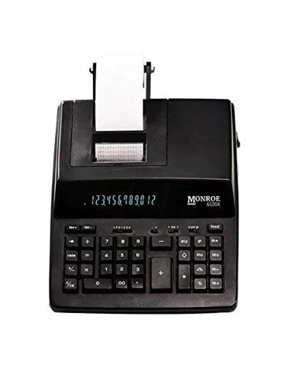 葬儀お祝い製油所Monroe Systems 6120X 12桁 ビジネス 中程度の耐久性 電卓 ブラック (認定整備済み)