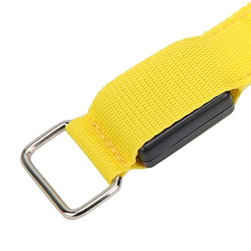 Lantuqib Pulsera LED para Correr, Ligera y cómoda de Llevar Pulsera Intermitente para Entrenamiento Muscular para Deportes Protección para Fitness para Deportes al Aire Libre(Yellow)