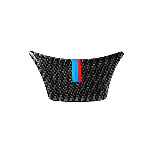 ZHGHS Lenkrad-Aufkleber Carbon-Faser-Logo 3D-3 Farben-Streifen Farbe Passend for BMW 2011-2017-5 Serie / 528 / 525Li / F10 / F18 Autoaufkleber (Color Name : M Style A)