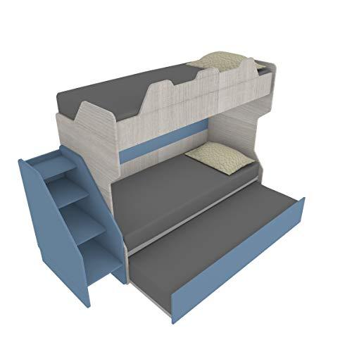 Smartr, Etagenbett mit ausziehbarem und erhöhbarem Bett, 80 x 190 cm, hergestellt in Italien