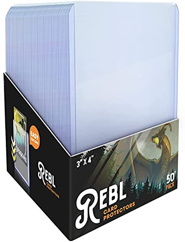 Toploader Card Protectors 3x4 (500) Rigid Ultra Clear Hard Card Sleeves Works with Sports, Pokemon, MTG, Yugioh - Protective Thick Plastic Top Loaders for Cards and Trading Collectibles by ReBL