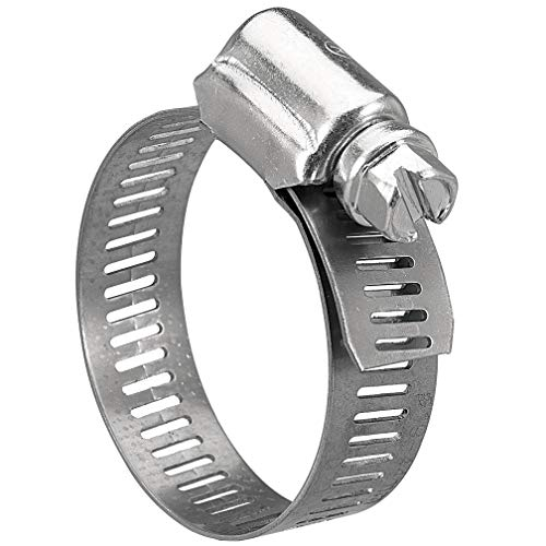Solarson Hose Clamp, 20 Pack Stainless Steel Adjustable 16-25mm (5/8-1 inch) Size Range Worm Gear Hose Clamp, Fuel Line Clamp for Plumbing, Automotive and Mechanical Application