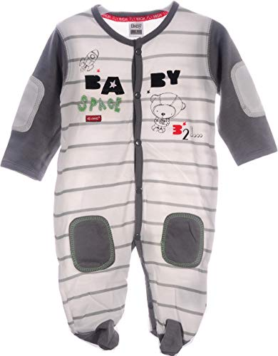 Strampler Baby Overall 62 68 74 80 86 Schlafanzug Anzug Creme Pyjama Langarm (80)