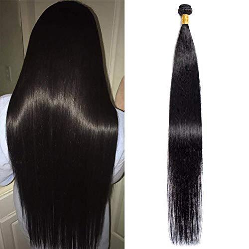 Brazilian Hair 1 Bundle 12A Virgin Unprocessed Long Straight Human Hair 36 inch Brazilian Straight Hair Bundle Natural Color