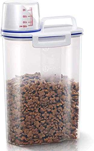 TBMax Pet Food Storage Container for Little Pets - Airtight Portable...
