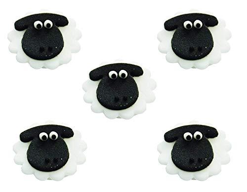 Schaf/Lamm Cupcakes/Kuchen-Deko, x 5