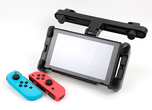 DURAGADGET Sturdy in-Car Adjustable Headrest Mount for New Nintendo Switch (Console with Joy-Con Attached)
