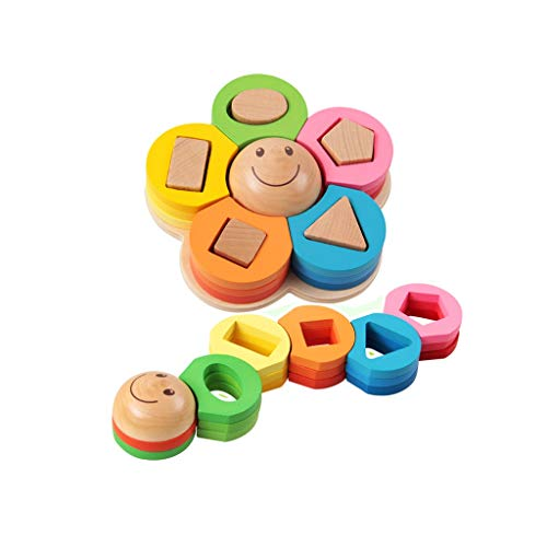 Why Choose Lxrzls Wooden Building Blocks-Colored Educational Toy for Toddlers with Different Shapes-...