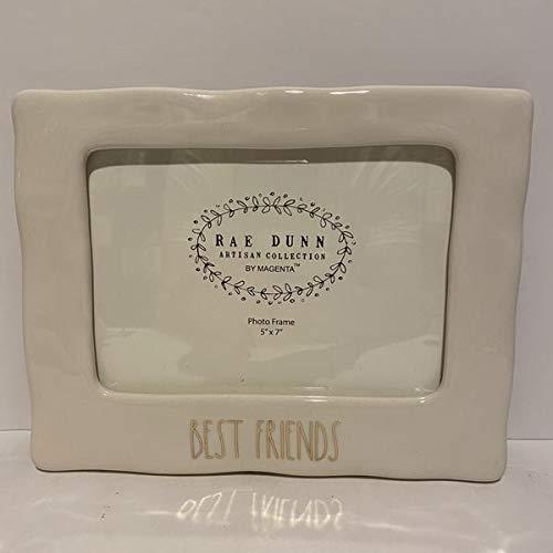 Rae Dunn BEST FRIENDS Photo Frame - Ceramic - 5 x 7 inch