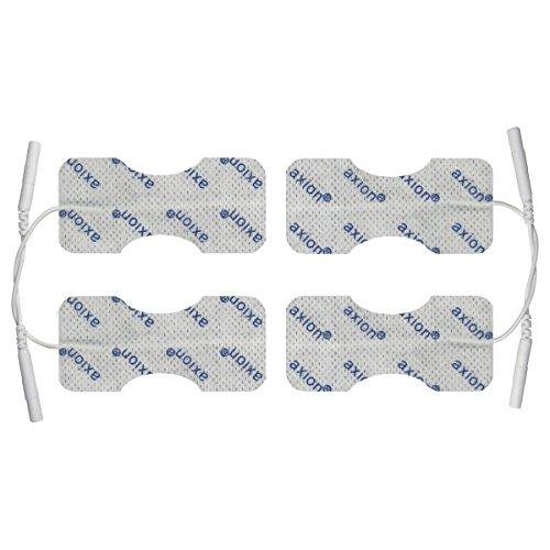 Set de 4 electrodos para dedos y muñeca axion de 6 x 3 | Para su aparato electroestimulador TENS EMS | Parches adhesivos tens para electroestimulación