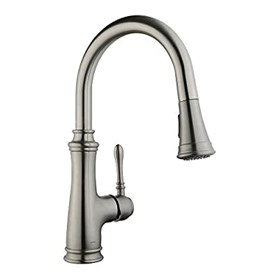 Keewi Kitchen Faucet Brushed Nickel Pull-Down S...