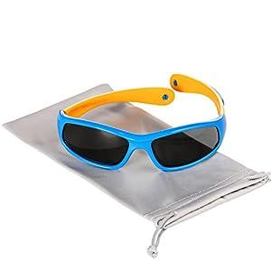 Hifot Gafas de sol para bebés niño, Protección UV Gafas de sol polarizadas para niños, flexibles Gafas de sol para niños - De 6 meses a 3 años