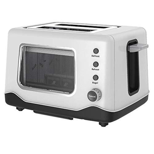 Li-HIM Toaster Aus Edelstahl, Clear View Extra Wide Slot Mit Funktion Zum Auftauen/Automatischen Abschalten des Durchsichtigen Fensters