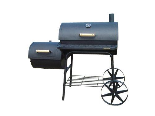 KIUG Profi XXL 90kg-Smoker BBQ GRILLWAGEN Holzkohle Grill Grillkamin 3,5 mm Stahl Profi-QUALITÄT