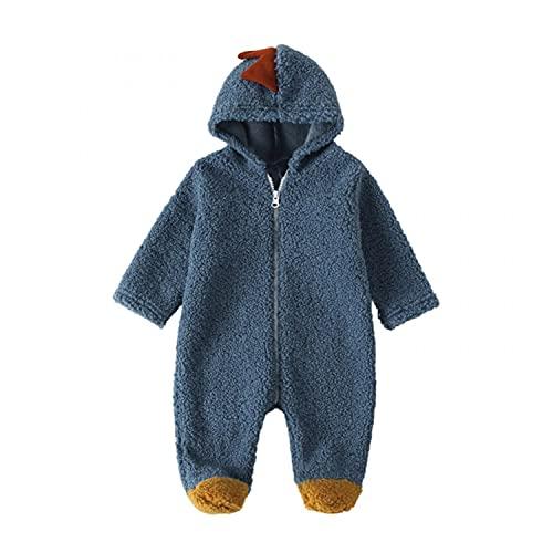 Mono para bebé o niña, diseño de dinosaurios y corales, azul, 0-3 Meses
