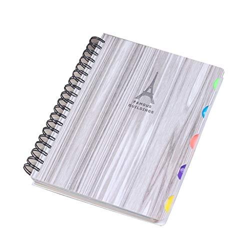 LYLY Cuaderno de 10 x 19 cm, espiral, 150 hojas por bobina, cuaderno, libro de ejercicios, registro de estudiante, cuaderno de notas, diario (color: A)