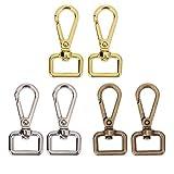 Zonster 4pcs Sac d'or Bagages métal Chien Boucle Mousqueton Sac Hanger Mousqueton...
